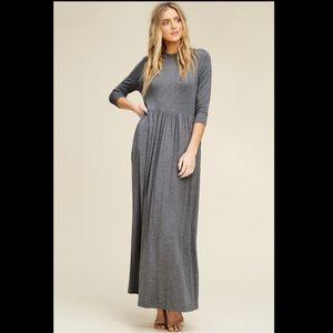 Mid Grey Plus Size Maxi Dresses